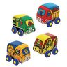 Plush Pull Back Construction Vehicles Set of 4