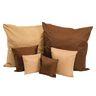 Two-Tone Pillows, Set of 6 - Brown/Tan
