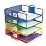Stackable Wire Letter Trays - Set of 4 Colors