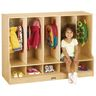 5-Section Toddler Locker with Step - Without Trays
