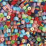 Colorations Round & Triangle Stripped Plastic Beads - set of approx 500, 11.6 oz