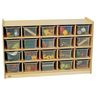 20-Cubby Mobile Storage with Clear Trays