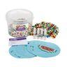 Jumbo No-Heat Fuse Beads Bucket, total 2500 Beads