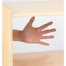 Straight Shelf Clear Back Storage