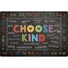 Choose Kind Black 6' x 9' Rectangle Pixel Perfect Carpet