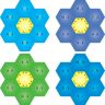 Hexagon Puzzles - Subtraction Within 10