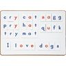 Magnetic Alphabet Letter Tiles with Red Vowels