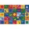 Colorful Alphabet and Geometric Shapes Premium Carpet - 4' x 6' Rectangle
