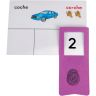 Tarjetas y Clips: Contar e igualar (Spanish Syllable Count And Match Cards And Clips)