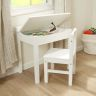 Lift-Top Desk with Chair - White