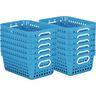 Book Baskets - Medium Rectangle - Set of 12 - Neon Blue
