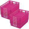 Classroom Paper Baskets - Set of 12 - Neon Pink