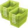 Book Baskets - Large Rectangle - Set of 12 - Neon Green