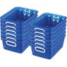 Book Baskets - Medium Rectangle - Set of 12 - Blue