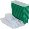 Pencil And Marker Baskets With Lids - 12 Pack - Green