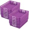 Classroom Paper Baskets, Set of 12 - Purple