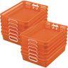 Classroom Paper Baskets - Set of 12 - Orange