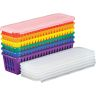 Group Color for 6 - Plastic Pencil and Marker Storage Baskets with Lids
