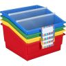 Mid-Size Mobile Storage Rack With 4 Picture Book Bins™ - Grouping
