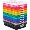 Classroom Paper Baskets - 12-Pack Rainbow