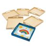 Colorations® Decorate Your Own Wooden Trays, Set of 6