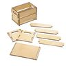 DYO Wooden Crate, Set of 5