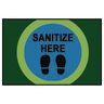 Sanitize Here Dot Rug, 3' x 4'6""