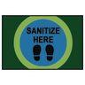 Sanitize Here Dot Rug, 4' x 6'
