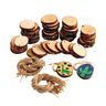 48 Natural Pre-drilled Wood Slices