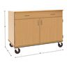 Teacher's Mobile Locking Workstation with Drawer - Maple