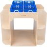 Library Island with Reading Cove and 4 Baskets - Blue