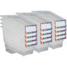 Durable Book and Binder Holder With Stabilizer Wing and Label Holder - Clear