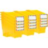 Durable Book and Binder Holder with Stabilizer Wing and Label Holder - Yellow