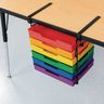 EZ Clamp Organization Station With 6 Color Trays - Black