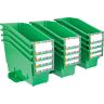 Durable Book and Binder Holder with Stabilizer Wing and Label Holder - Green