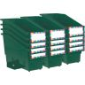 Durable Book and Binder Holder with Stabilizer Wing and Label Holder - Royal Green