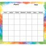 Programmable Monthly Calendar Jumbo Poster