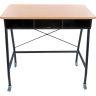 Teacher Standing Desk With Baskets - Orange
