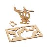 Colorations® Decorate Your Own 3-D Wooden Vehicle Puzzles, Set of 4 Designs