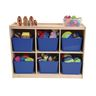 6-Section Toddler Storage Cubby with Play Top