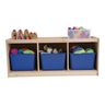 3-Section Toddler Storage Cubby with Play Top