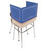 Deluxe Plastic Privacy Shield - Large Blue Single