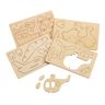 Colorations 3D Wooden Vehicle Puzzles, 3 Sets, Total of 12 Vehicles
