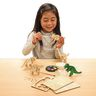 Colorations Decorate Your Own 3-D Wooden Dinosaur Puzzles, Set of 4 Designs with Paint & Brushes