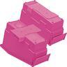 Durable Book & Binder Holders + Stabilizer Wing & Label Holder, Set of 4 - Neon