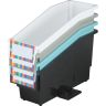 Durable Book & Binder Holders + Stabilizer Wing & Label Holder, Set of 4 - Neutral