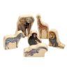 Excellerations® Wood Jungle Animal Blocks - Set of 6