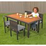Excellerations® Outdoor Wicker Dining Set, 5-Piece Set with Table and 4 Chairs