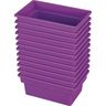 Small All-Purpose Bin, Set of 12 - Purple