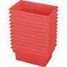 Small All-Purpose Bin, Set of 12 - Red